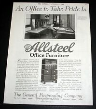 1920 OLD MAGAZINE PRINT AD, GF ALLSTEEL FURNITURE, AN OFFICE TO TAKE PRIDE IN!