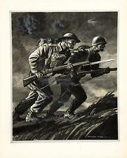 British & Russian Soldiers Army Rowland Hilder World War 2 10x8 Inch Reprint