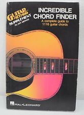 Incredible Chord Finder A Complete Guide To 1116 Guitar Chords (1975)