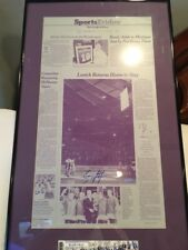 Ny Rangers Brian Leetch Autographed Press Plate Steiner Coa Retired Jersey Rare!