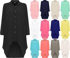 Polyester Patternless Midi Shirt Dresses for Women