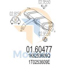 MTS 01.60477 Exhaust VOLKSWAGEN Touran 1.9 TDi 105bhp 05/04 -