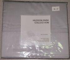 Hudson Park Collection Twin Flat Sheet 600 Tc 100% Cotton Fl Cld Gray Blue