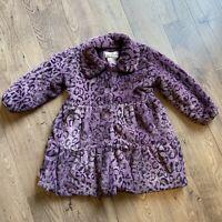 American Widgeon Faux Fir Super Soft Fleece Purple Winter Coat - Girls Size 5