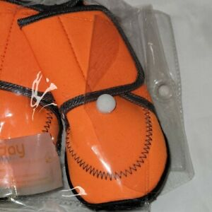 Waterproof Dog Shoes Fluorescent Orange Dog Boots Adjustable Straps Size Large