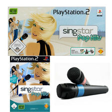 SingStar Pop Hits incl. 2 micrófonos para PlayStation 2 ps2 | mercancía nueva