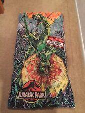 RARE JURASSIC PARK Vintage 1992 SLEEPING BAG 54x28 Dilophosaurus Velociraptor 92