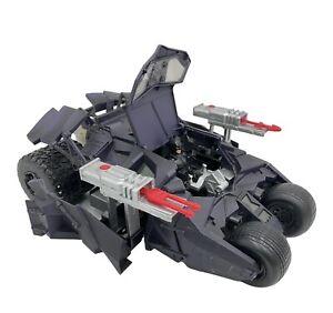 "Batman Begins Batmobile Tumbler H1387 Lights + Sounds 13"" W/ Figure & Bullets"