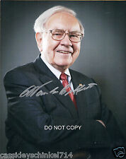 "Warren Buffett business genius Reprint Signed 8x10"" Photo RP Berkshire Hathaway"