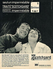 PUBLICITE ADVERTISING  1963   SCOTCHGARD   impeméable