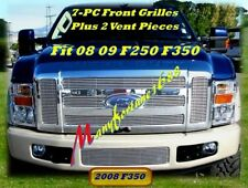 08 09 2008 Ford F250 F350 New Billet Grille Combo 9PC