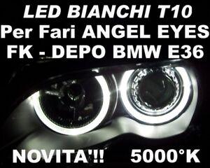 LED W5W T10 BIANCO 12V 5000K ANGEL EYES BMW E36 DEPO FK
