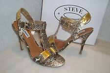 Steve Madden Womens NWB Reya Natural Snake Sandals Shoes 9 MED NEW
