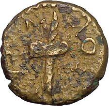 AUGUSTUS RHOEMETALKES Rare Ritual Axe Throne Thrace  Greek Roman Coin  i34370