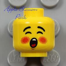 NEW Lego Boy Girl CAROLER MINIFIG HEAD Christmas Carol Singer Kid Child Baby