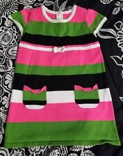 CRAZY 8 Toddler Girls Stripe Sweater Dress Size 3T(3Years) Multi Color