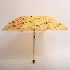 Cute Kabosu Doge Sun Protection Parasol Shiba Inu 3 Folding Umbrella Yellow