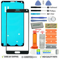 Black Front Outer Lens Screen Glass Replacement for Samsung Galaxy Note 4 UK