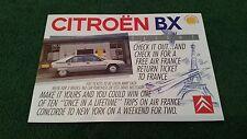 1989 CITROEN BX 14 Flight SPECIAL Win à AIR FRANCE CONCORDE Flight UK brochure