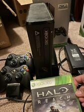 New listing xbox 360 s 250gb With 2 Control And Halo Reach Game