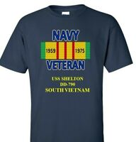 USS SHELTON  DD-790 NAVY VIETNAM CAMPAIGN RIBBON & VINYL SHIRT/SWEAT