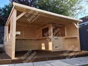 GARDEN BARS / GARDEN ROOMS / GAZEBOS / ALL BESPOKE MADE TO MEASURE / MAN CAVE