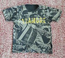 Paramore Band Rock T-Shirt Men's M Riot Police Gas Masks Black Gray Yellow Rare
