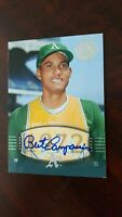 2004 UD Timeless Teams Bert Campaneris Auto  SP # 80  Short Print  !