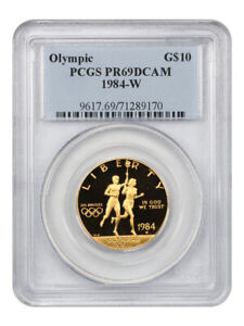 1984-W Olympic $10 PCGS PR 69 DCAM - Proof Modern Commemorative Gold