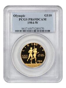 1984-W Olympic $10 PCGS PR 69 DCAM - Proof Modern Commemorative Gold