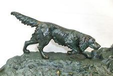 BRONZE GARNITURE D'écriture VIENNE um 1900 chien de chasse ENCRIER