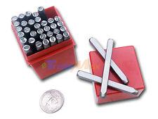 """36 Pcs 3mm 1/8"""" Letter & Number Stamp Die Punch Set Hardened Steel"""