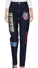 American retro jeans donna nuovo soren boyfriend blue w26 tg 40 game over T3890