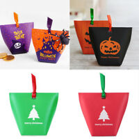 Halloween Xmas Party Tote Bags Trick Or Treat Gift Bags Sweet Loot Candy Box