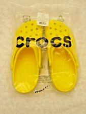 Crocs Lemon Yellow Roomy Fit Unisex Classic Clog Womens Sz 8 Mens Sz 6 NWT
