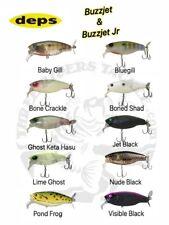 Deps Buzzjet & Buzzjet Jr Wakebait / Topwater Lure - Choose Size / Color