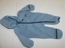 REI SNOWSUIT SNOW BUNTING FLEECE FLIP OVER CUFFS GRAY INFANT BOY'S 6 MONTHS MOS