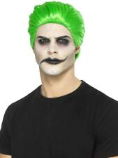 Green Slick Trickster Wig Fancy Dress Costume Accessory Mens Joker Halloween