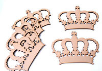 Wooden Crown Craft Shape Royal Princess Crown Blank Badge Emblem Toy Box Mdf