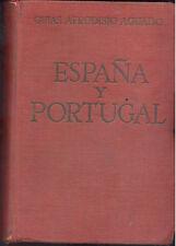 ESPAÑA Y PORTUGAL GUIAS AFRODISIO AGUADO 1950 CON PLANOS A COLOR    TC11976 A6C2