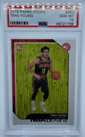 Trae Young 2018-19 Panini NBA Hoops PSA 10 Gem Mint #250 Rookie Card RC Hawks