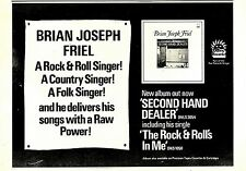 (Sds)9/2/1974Pg13 Album Advert 7x10 Brian Joseph Friel second Hand Dealer