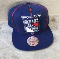 New York Rangers Hat Snapback Cap Blue NHL Hockey Mitchell & Ness Retro NWT