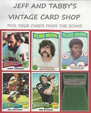 1975 TOPPS FOOTBALL SEE SCANS # 353 TO # 528