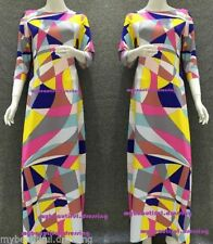 Unbranded Hand-wash Only Geometric Maxi Dresses for Women