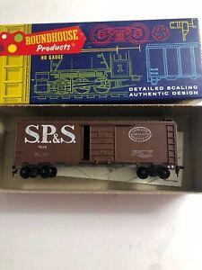 Roundhouse HO scale 40' Box Car #3057 S.P. & S. KIT UNBUILT