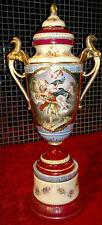 "Antico Royal Vienna mythological scena hand painted Lidded Urn / VASO 18,5 ""Tall"
