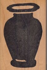 """plain solid vase hot potatoes Wood Mounted Rubber Stamp 2  1/2x 4""""  Free Ship"""