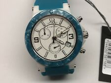 Rougois Hi-Tech Ceramic Sapphire Crystal Watch RC278PS-GR Blue Rubber Band