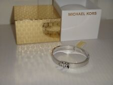 Michael Kors Women's Haute Hardware Silver Bangle Bracelet MKJ6837040 + MK BOX